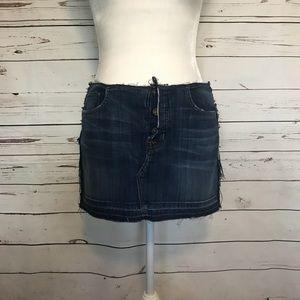 Hudson Jeans denim dark wash skirt